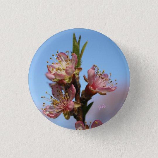 Peach Blossoms 3 Cm Round Badge
