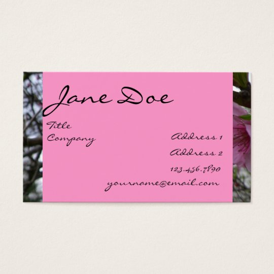 Peach Blossoms - Business Business Card