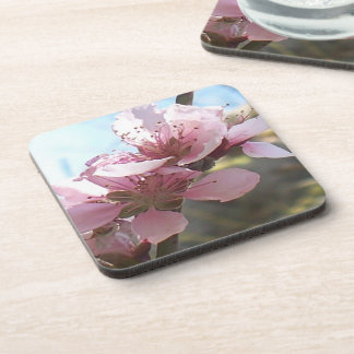 Peach Blossoms Drink Coasters