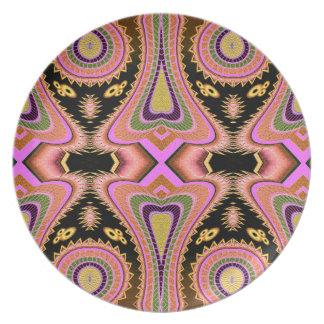 Peach Blowfish Groovy Moves Plate