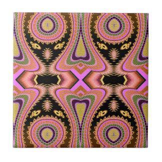 Peach Blowfish Groovy Moves Tile