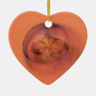 peach blur christmas ornament