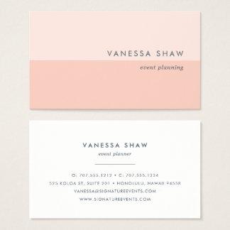 Peach Blush | Modern Colorblock Business Card