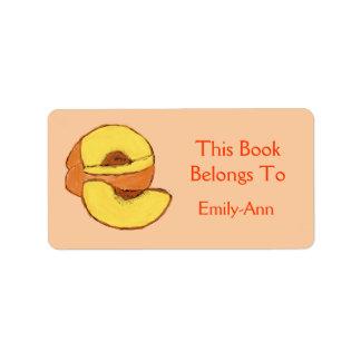 Peach Book Label