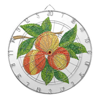 peach branch, imitation of embroidery dartboard
