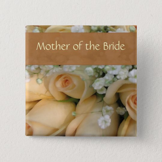 Peach Bride Wedding Pin - Customised