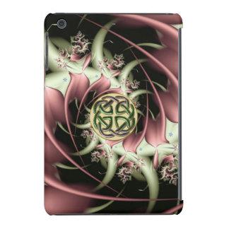 Peach Bronze Fractal and Celtic Knot iPad Mini Cases