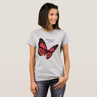 Peach Butterfly T Shirt