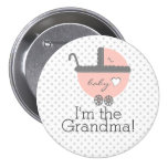 Peach Carriage-Baby Shower Grandma Pin