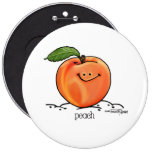 Peach - Cartoon Buttons