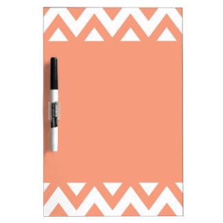 Peach Chevron Dry Erase Board