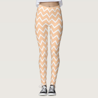 Peach Chevron Leggings