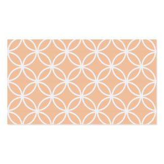 Peach Circular Pattern Pack Of Standard Business Cards