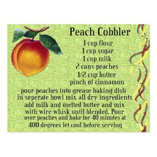 peach cobbler postcard