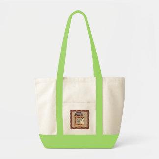 peach cobbler canvas bag