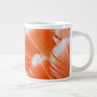Peach Colored Cocatoo Feathers Large Coffee Mug