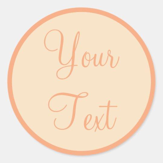 Peach & Cream Envelope Seals with Custom Text