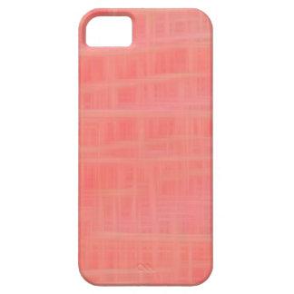 Peach criss cross iPhone 5 cases