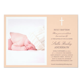 PEACH CROSS | BAPTISM INVITATIONS