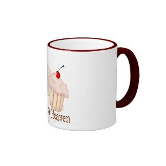 Peach Cupcakes Ringer Mug