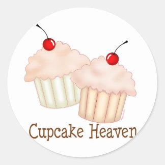 Peach Cupcakes Round Sticker