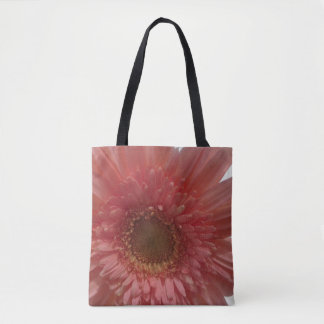 Peach Dahlia Tote Bag
