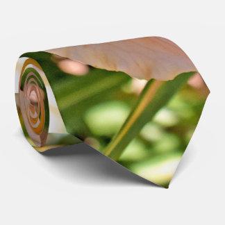 Peach Daylily Flower Tie