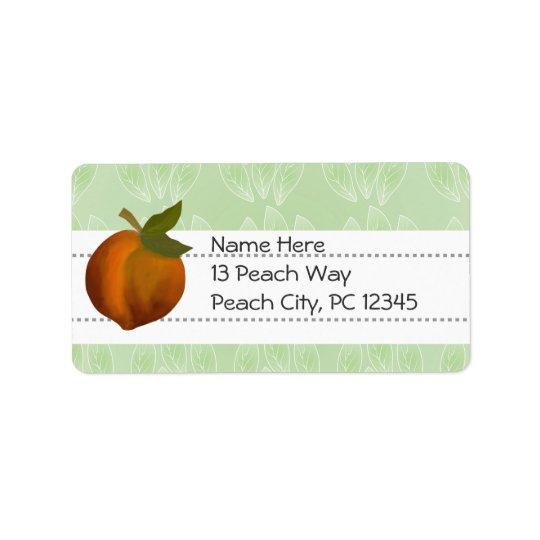 Peach Design.  Customise Label