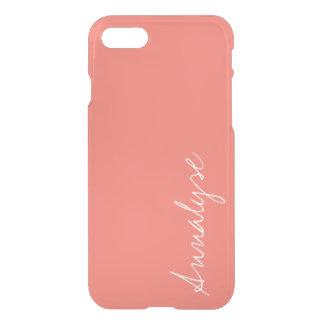Peach Echo Soft Orange Coral Solid Color Custom iPhone 7 Case