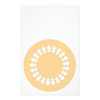 Peach Elegant Round Design. Art Deco Style Full Color Flyer