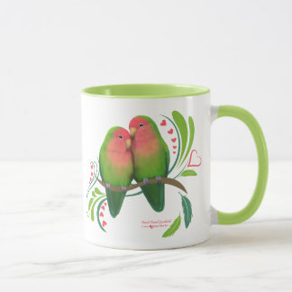 Peach Faced Love Birds Mug