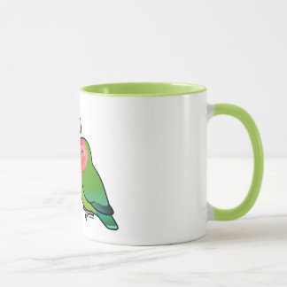 Peach-faced Lovebird Adorable Pair Mug