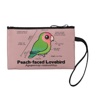 Peach-faced Lovebird Statistics Coin Purse