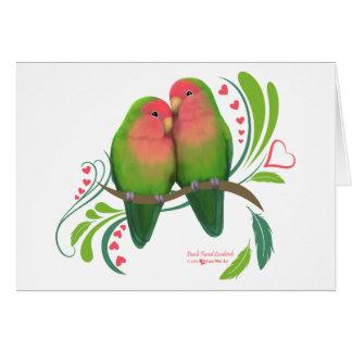 Peach Faced Lovebirds Card