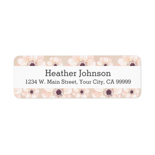 Peach Floral Girly Watercolor Flowers