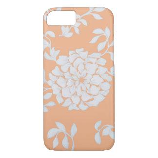Peach Flower Design iPhone 7 Case