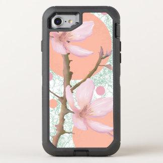 Peach Flower Pattern OtterBox Defender iPhone 8/7 Case