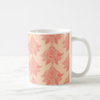 Peach Flowers Print Coffee Mug