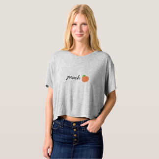 peach flowy crop T-Shirt