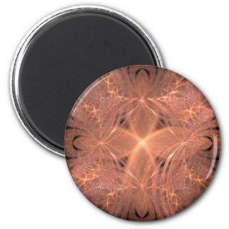 Peach Fractal Magnet