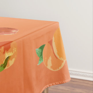 Peach Fruit Pattern Decorative Tablecloth