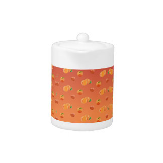 Peach Fruit Pattern Teapot