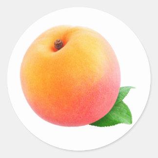 Peach fruit round sticker