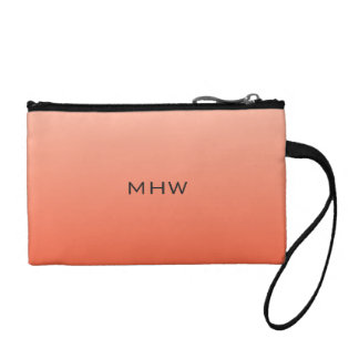 Peach Gradient custom monogram accessory bags
