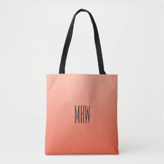 Peach Gradient custom monogram bags