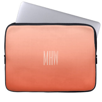 Peach Gradient custom monogram laptop sleeves
