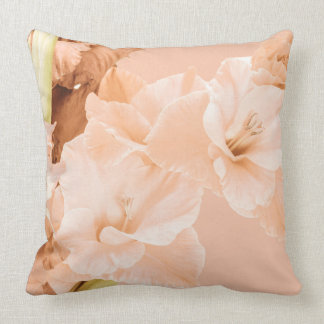 Peach & Green Decorative Cushion