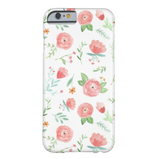 Peach Happy Floral Barely There iPhone 6 Case