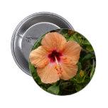 Peach Hibiscus Badge
