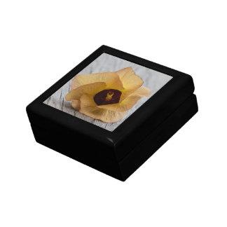 Peach Hibiscus Flower Gift Box